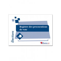 REGISTRE DES PROCURATIONS DE VOTE (A006)