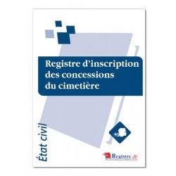 REGISTRE D'INSCRIPTION DES CONCESSIONS DU CIMETIERE (A012)