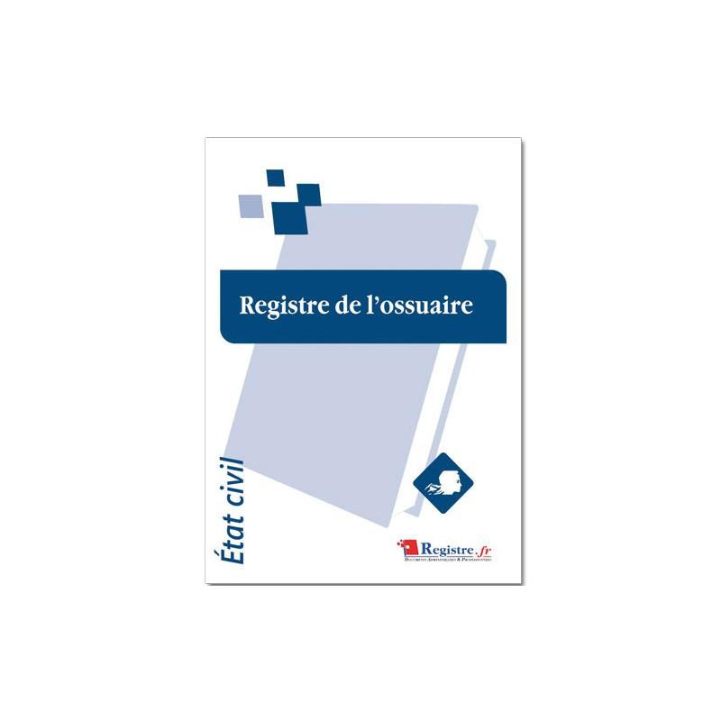 REGISTRE DE L'OSSUAIRE (A013)