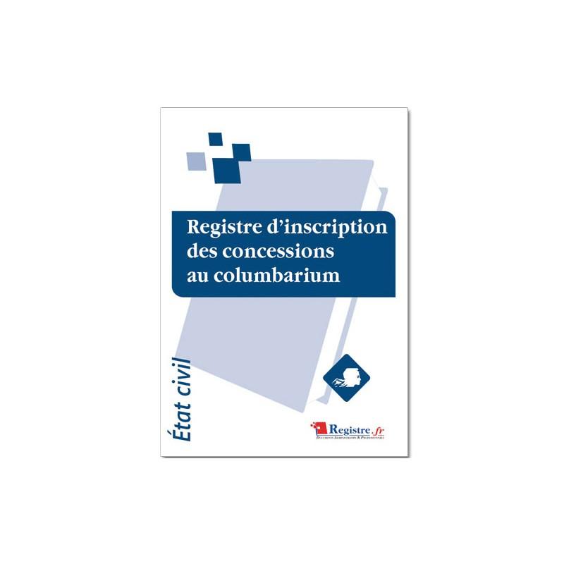 REGISTRE D'INSCRIPTION DES CONCESSIONS AU COLUMBARIUM (A014)