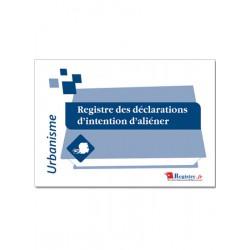 REGISTRE DES DECLARATIONS D'INTENTION D'ALIENER - D.I.A. (A031)
