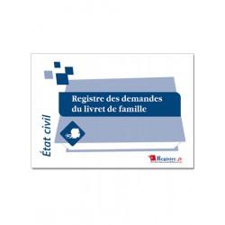 REGISTRE DES DEMANDES DU LIVRET DE FAMILLE (A037)