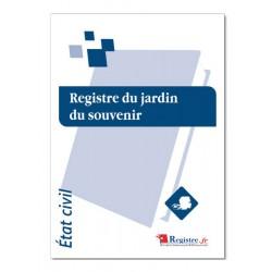 REGISTRE DU JARDIN DU SOUVENIR (A038)