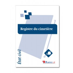 REGISTRE DU CIMETIERE (A040)