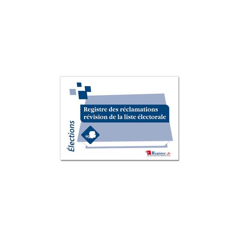 REGISTRE DES RECLAMATIONS REVISION DE LA LISTE ELECTORALE (A043)