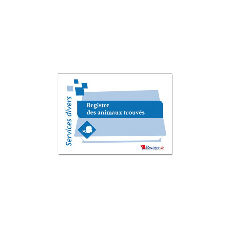 REGISTRE OBLIGATOIRE DES ANIMAUX TROUVES (A065)