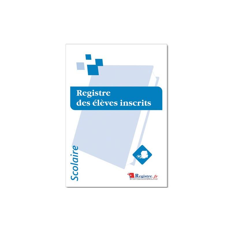 REGISTRE DES ELEVES INSCRITS (A069)
