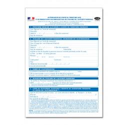 AUTORISATION DE SORTIE DU TERRITOIRE D'UN MINEUR NON ACCOMPAGNE PAR UN TITULAIRE DE L'AUTORITE PARENTALE (A092)