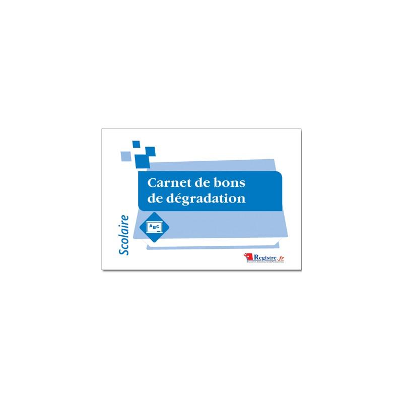 CARNET DE BONS DE DEGRADATION (A094)