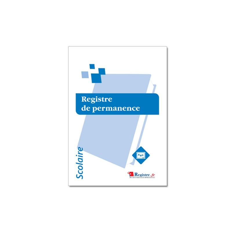 REGISTRE DE PERMANENCE - SCOLAIRE (A095)