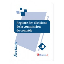 REGISTRE DES DECISIONS DE LA COMMISSION DE CONTROLE (A104)