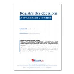 REGISTRE DES DECISIONS DE LA COMMISSION DE CONTROLE (A104)
