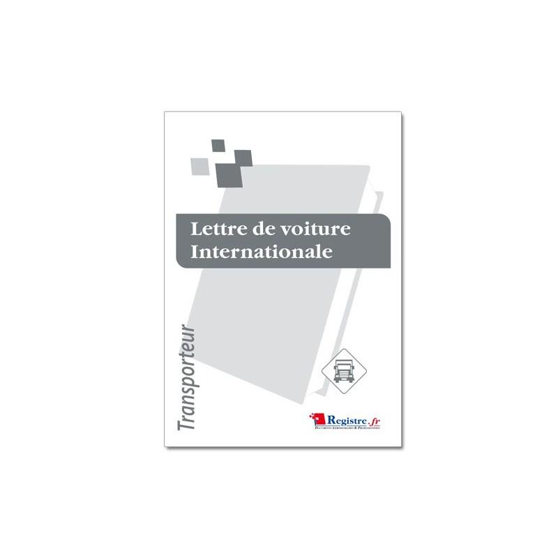 LETTRE DE VOITURE INTERNATIONALE (CMR01)