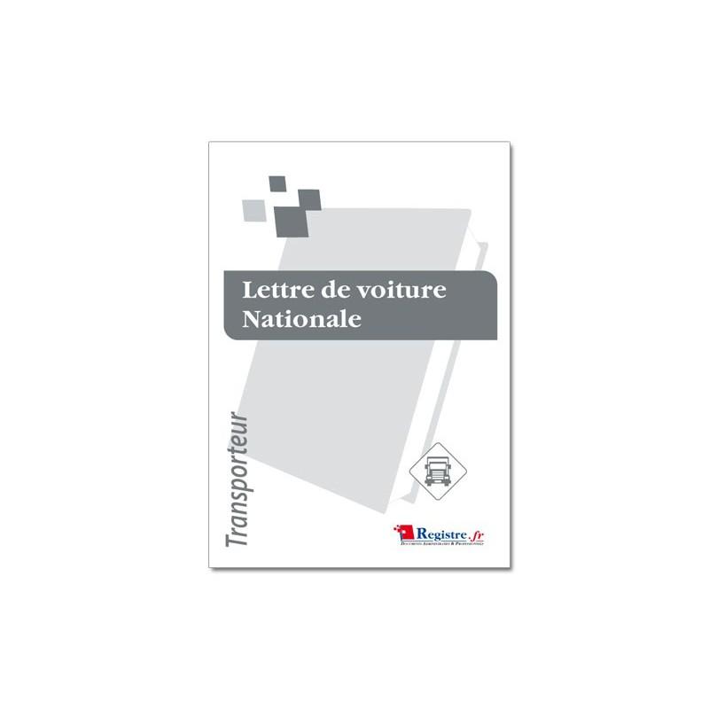 LETTRE DE VOITURE NATIONALE - TRANSPORTS (CMR02)