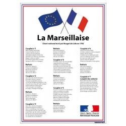 AFFICHAGE LA MARSEILLAISE LOI BLANQUER ECOLE COLLEGE LYCEE DRAPEAU (DEV0015)