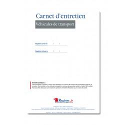 CARNET D'ENTRETIEN DE VEHICULE DE TRANSPORT (M002)