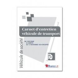 CARNET D'ENTRETIEN POUR VEHICULE DE SOCIETE (M002-A5)