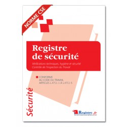 REGISTRE DE SECURITE - CONTROLE ET VERIFICATION HYGIENE ET SECURITE (M004)