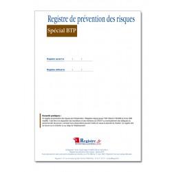 REGISTRE DE PREVENTION DES RISQUES SPECIAL BTP (M006)