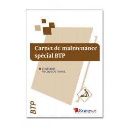 CARNET DE MAINTENANCE SPECIAL BTP (M007)