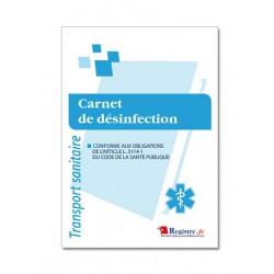 CARNET DE DESINFECTION POUR TRANSPORT SANITAIRE (M008)