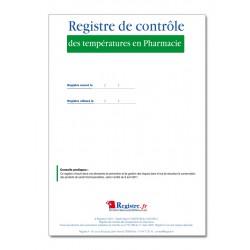 REGISTRE DE CONTROLE DES TEMPERATURES EN PHARMACIE (M011)