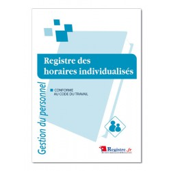 GESTION DU PERSONNEL : REGISTRE DES HORAIRES INDIVIDUALISES (M014)