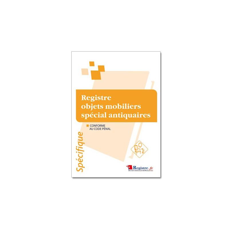 REGISTRE OBJETS MOBILIERS SPECIAL ANTIQUAIRES (M015)