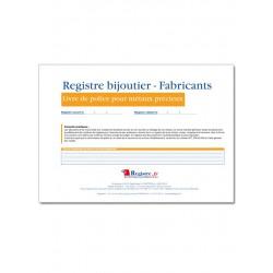 REGISTRE BIJOUTIER FABRICANTS (M024)