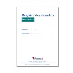 REGISTRE DES MANDATS TRANSACTIONS (M028)