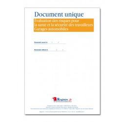 DOCUMENT UNIQUE D'EVALUATION DES RISQUES POUR LA SANTE ET LA SECURITE DES TRAVAILLEURS - GARAGES AUTOMOBILES (M031)