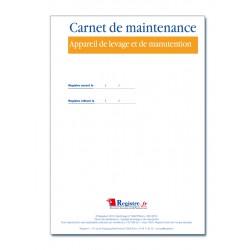 CARNET DE MAINTENANCE APPAREIL DE LEVAGE ET DE MANUTENTION (M034)