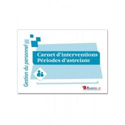 CARNET D'INTERVENTIONS PERIODES D'ASTREINTE (M038)