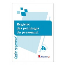 REGISTRE OBLIGATOIRE DES POINTAGES DU PERSONNEL (M043)