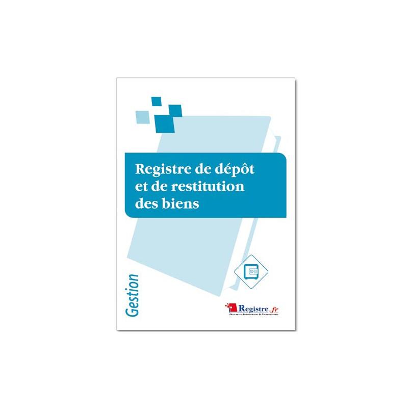 REGISTRE DE DEPOT ET DE RESTITUTION DES BIENS (M071)