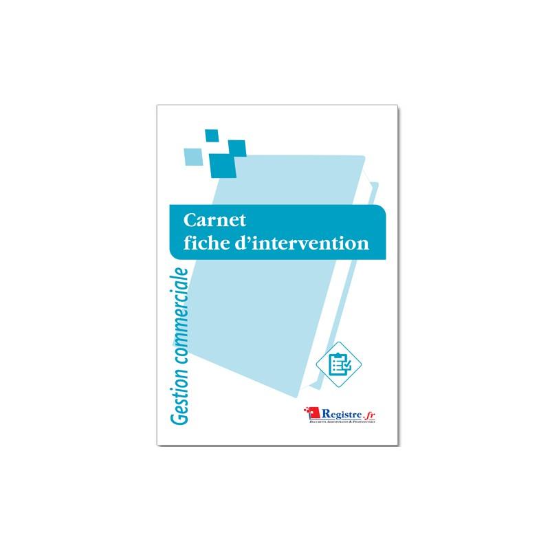 CARNET FICHE D'INTERVENTION - GESTION COMMERCIALE (M074)