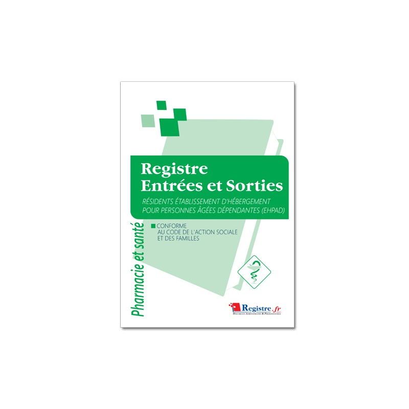 REGISTRES DES ENTREES ET SORTIES RESIDENTS EHPAD (M101)