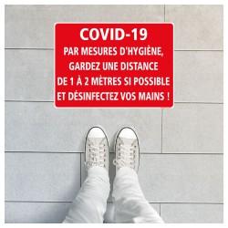SIGNALISATION DE MARQUAGE AU SOL SPECIAL CORONAVIRUS - MESURES D'HYGIENE EN TEMPS D'EPIDEMIE TYPE COVID-19 (O0032)