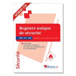 REGISTRE DE SECURITE INCENDIE POUR ERP, ERT, IGH (P001)