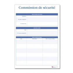 REGISTRE DE SECURITE INCENDIE POUR ERP TYPE U (P002)
