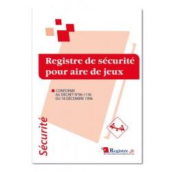 REGISTRE DE SECURITE POUR AIRE DE JEUX (P005)