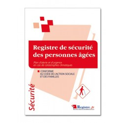 REGISTRE DE SECURITE DES PERSONNES AGEES (P009)