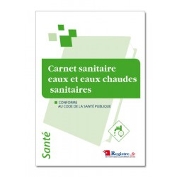 CARNET SANITAIRE EAUX ET EAUX CHAUDES SANITAIRES (P015)