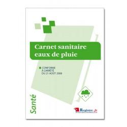 CARNET SANITAIRE EAUX DE PLUIE (P016)