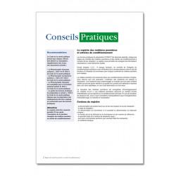 REGISTRE DES MATIERES PREMIERES ET ARTICLES DE CONDITIONNEMENT (P025)