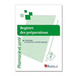REGISTRE DES PREPARATIONS (P028)