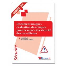 DOCUMENT UNIQUE EVALUATION DES RISQUES SANTE ET SECURITE DES TRAVAILLEURS (P032)