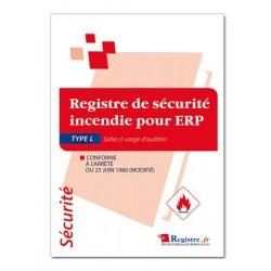REGISTRE DE SECURITE INCENDIE POUR ERP TYPE L (P035)