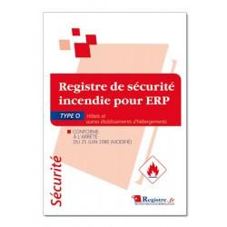 REGISTRE DE SECURITE POUR ERP TYPE O (P038)