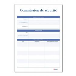 REGISTRE DE SECURITE INCENDIE POUR ERP TYPE R (P040)